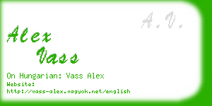 alex vass business card